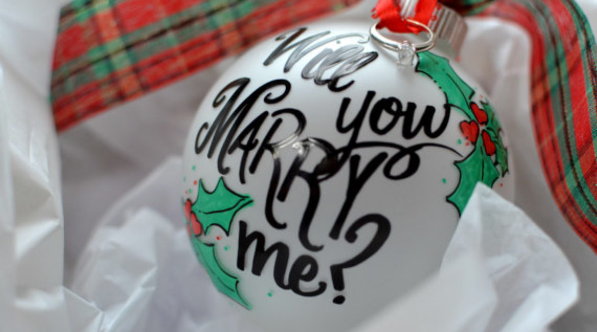 Wedding Proposal on Christmas Time