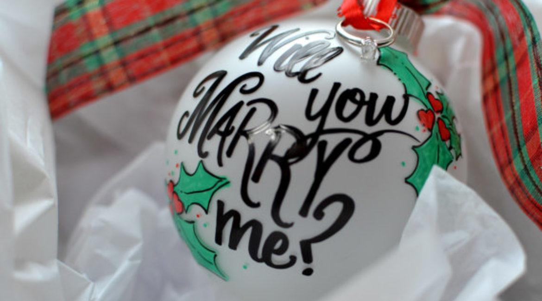 Wedding Proposal on Christmas Time